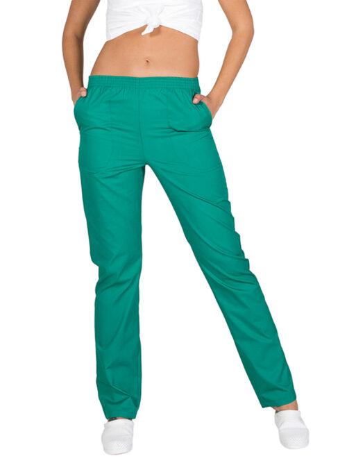 Pantalón sanitario de colores de sarga con elástico en la cintura