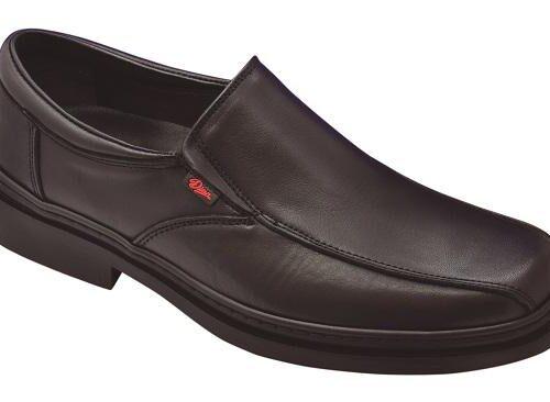 Zapato cierre elásticos laterales, antideslizante,  cosido de seguridad reforzado DIAN