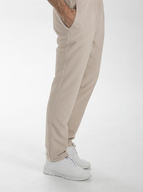 Pantalón unisex de microfibra beige con bolsillos