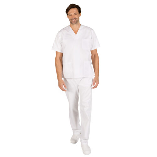 Conjunto blanco pantalón goma unisex blanco GARY'S