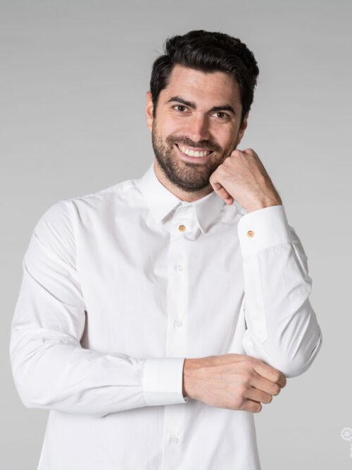 Camisa para hombre Eliseo slim fit de tejido reciclado