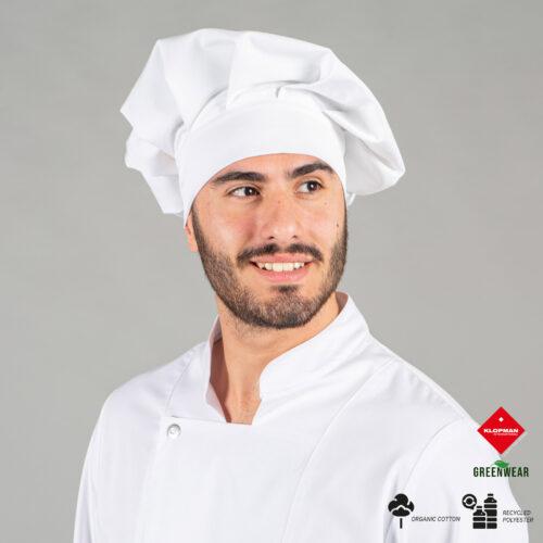 Gorro gran chef de tejido reciclado y orgánico klopman