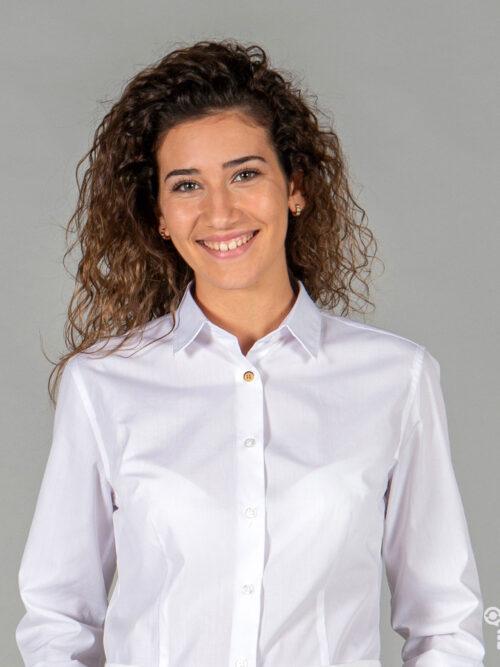Camisa para mujer Idara slim fit de tejido reciclado