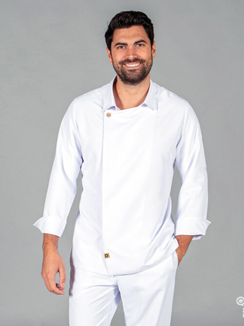Chaqueta de cocina unisex Arias de tejido reciclado microfibra