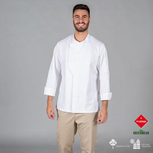 Chaqueta de cocina unisex Haro de tejido reciclado y orgánico klopman