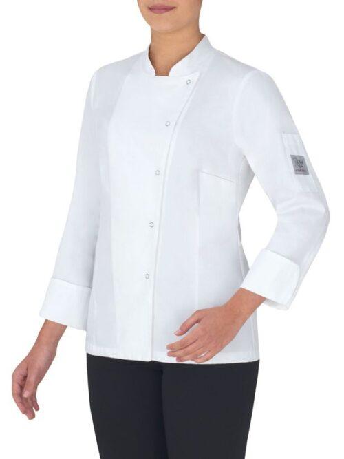 Chaqueta cocina boton click luxatin, fácil planchado slim fit GIBLOR'S