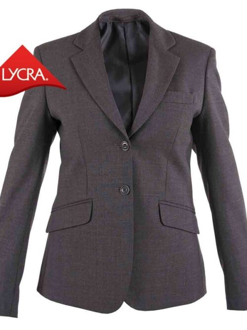 Americana traje mujer regular fit, 2 botones, solapas 2 bolsillos TEXTIL R