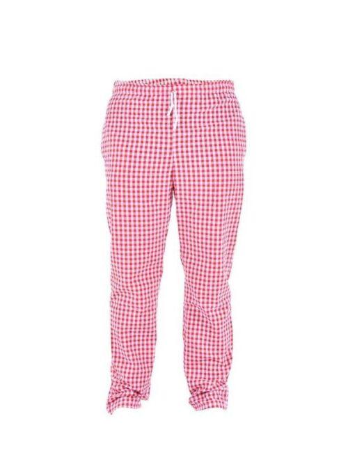 Pantalón unisex cuadros,  cintura con goma y bolsillos TEXTIL R