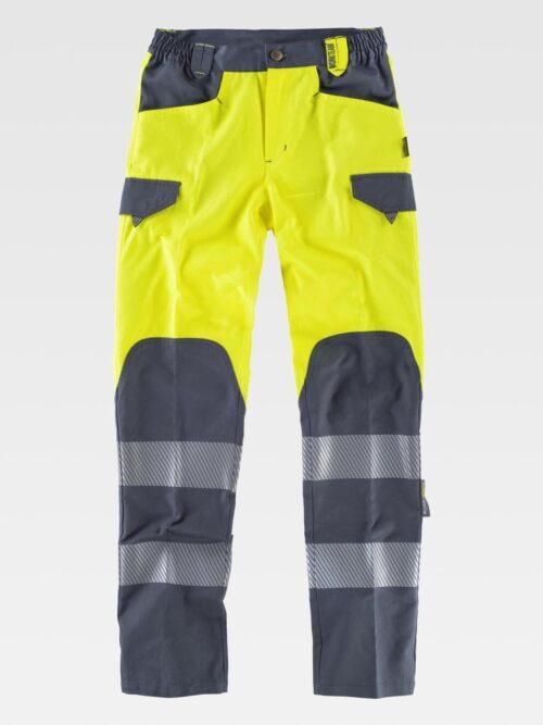 Pantalón combinado alta visibilidad iso 20471. Clase 1 WORKTEAM
