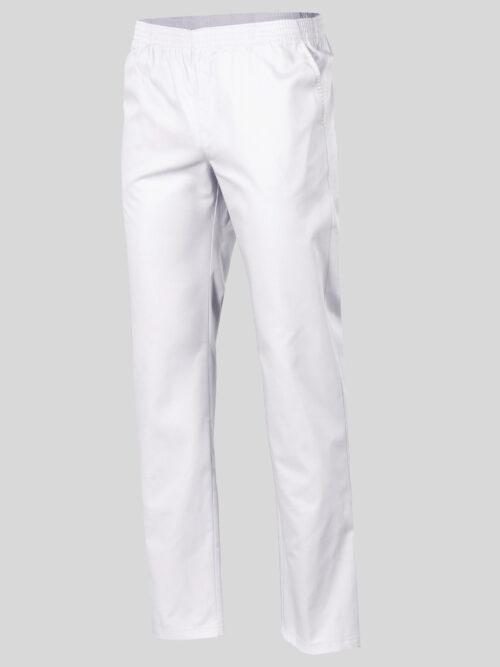 Pantalón sanitario de sarga color blanco