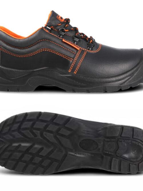 Zapato con cordones y puntera de seguridad